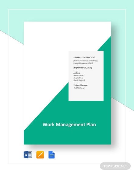 Work Management Plan Template