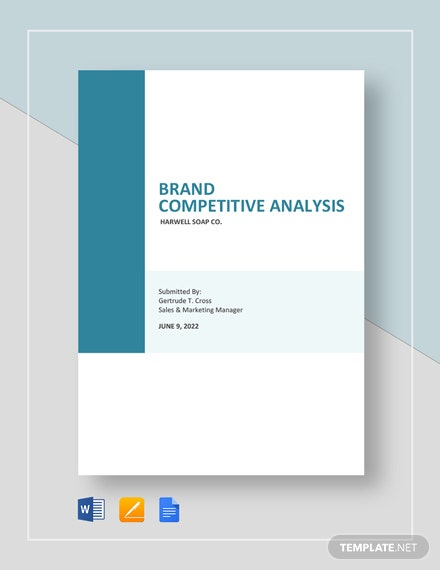 Brand Competitive Analysis Template