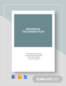 Individual Treatment Plan Template