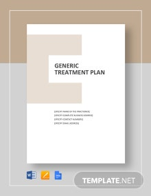 Generic Treatment Plan Template