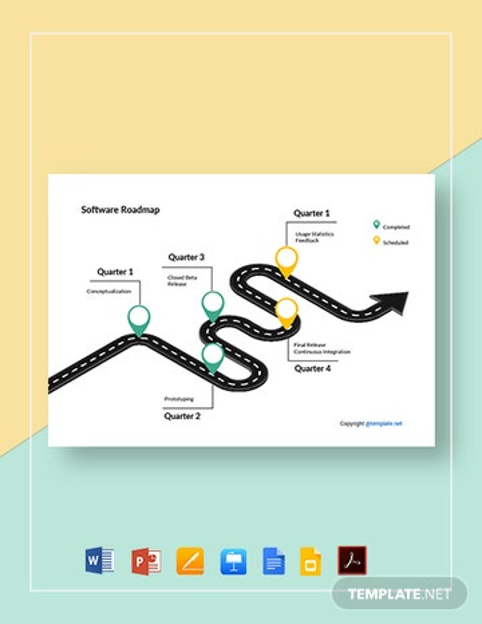 Free Simple Software Roadmap Template