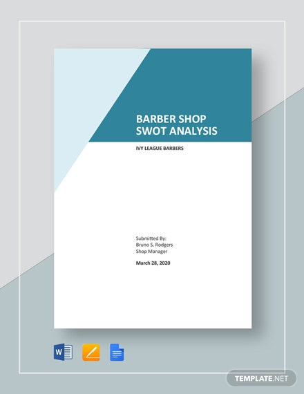Barber Shop SWOT Analysis Template