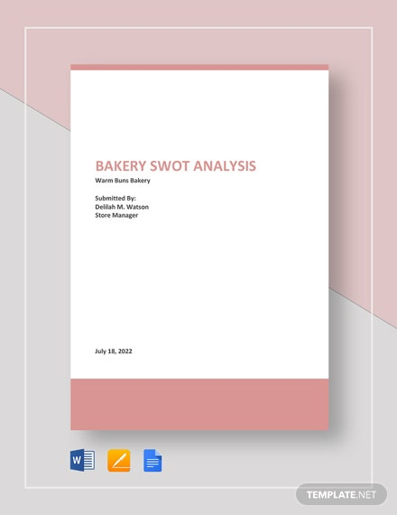 Bakery SWOT Analysis Template
