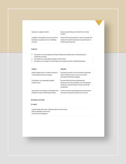 Creative Swot Analysis Download