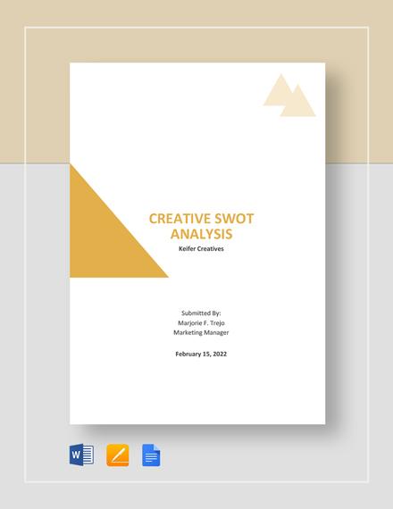 Creative SWOT Analysis Template