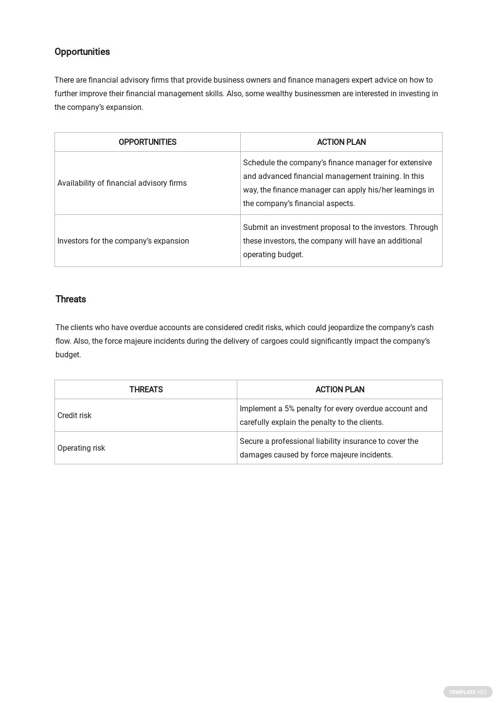 Financial SWOT Analysis Template [Free PDF] - Google Docs, Word, Apple Pages