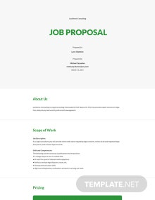 Free Sample Job Proposal Template