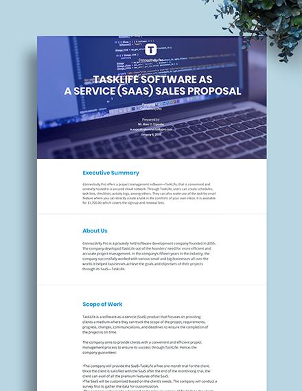 SaaS Sales Proposal Template