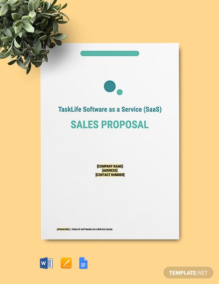 SaaS Sales Proposal Template