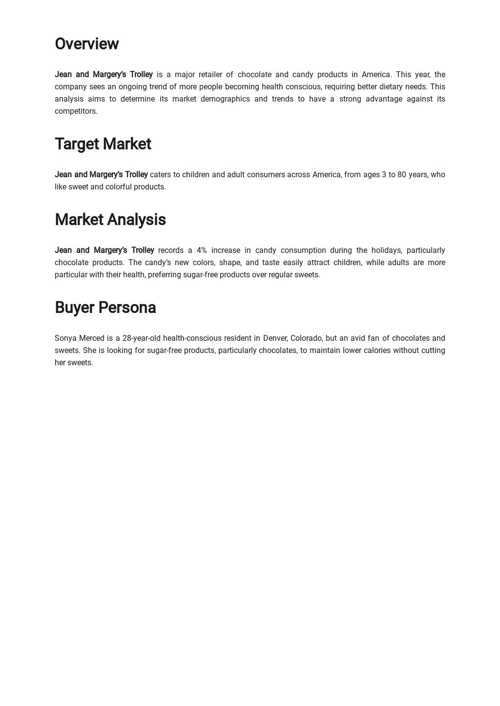 Retail Market Analysis Template [Free PDF] - Google Docs, Word, Apple Pages