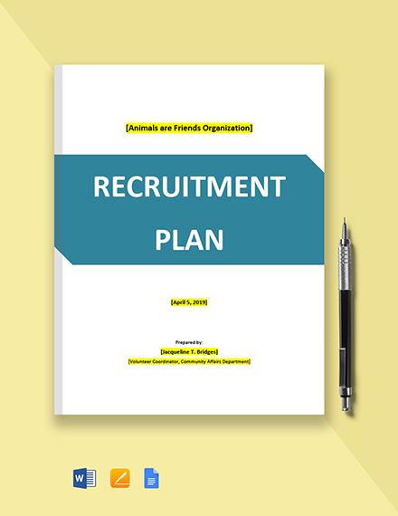 Volunteer Recruitment Plan Template