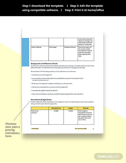 Student Recruitment Plan Template Download