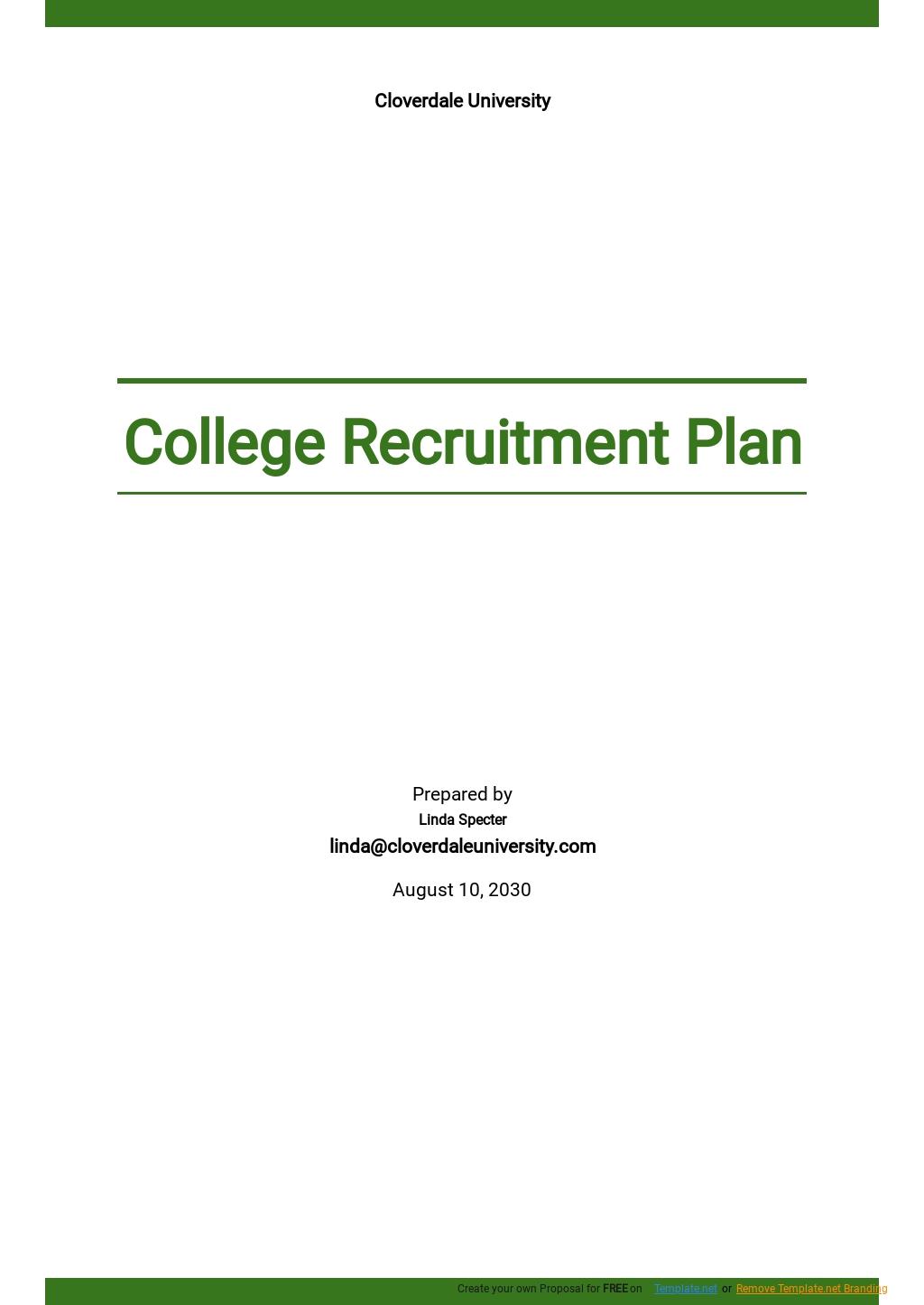 College Recruitment Plan Template.jpe