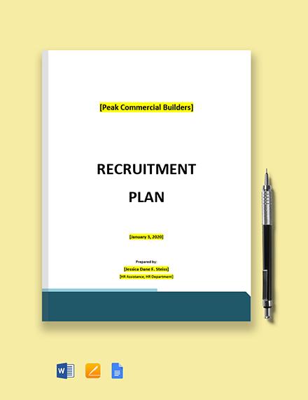 Board Recruitment Plan Template