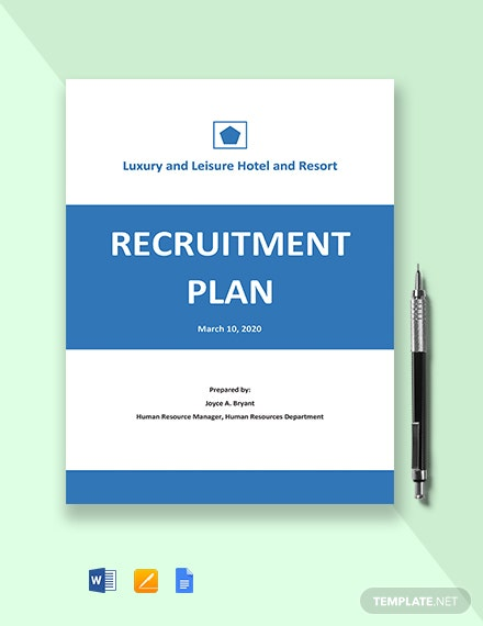 Annual Recruitment Plan Template