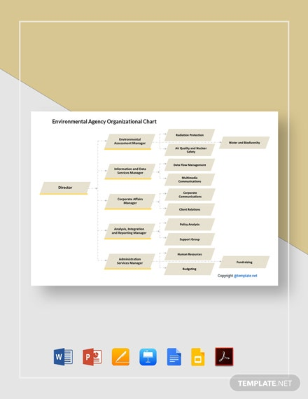 Free Simple Environmental Agency Organizational Chart Template