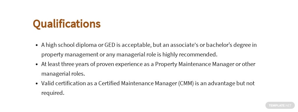 Free Property Maintenance Manager Job Ad and Description Template 5.jpe