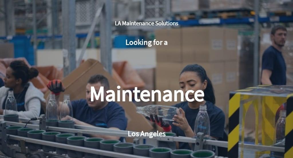 Maintenance Job Description Template