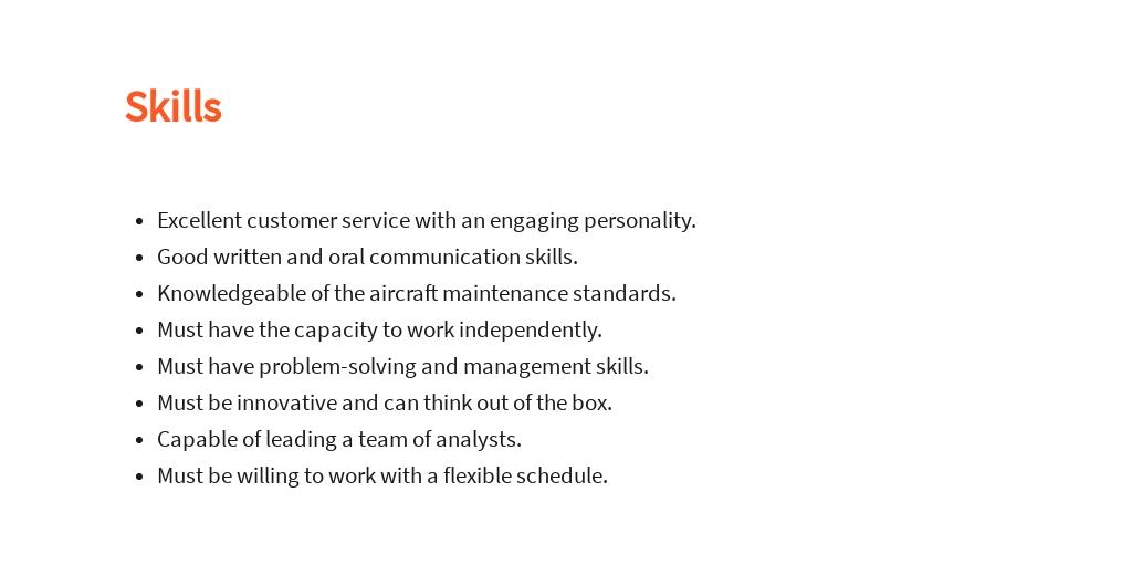 Free Maintenance Data Analyst Job Description Template 4.jpe