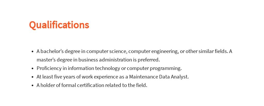 Free Maintenance Data Analyst Job Description Template 5.jpe