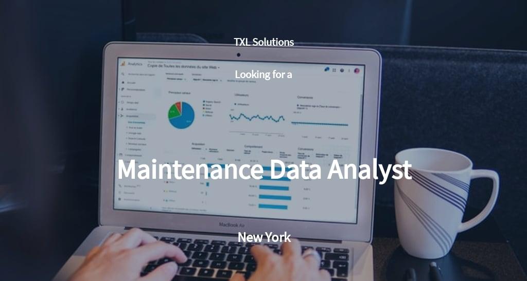 Free Maintenance Data Analyst Job Description Template.jpe