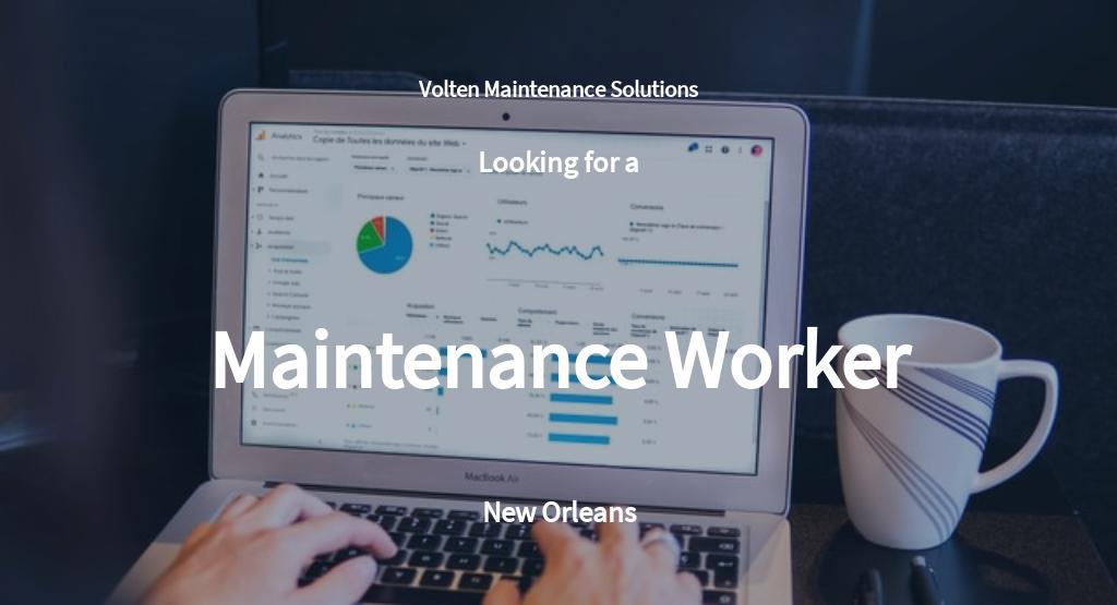 Maintenance Worker Job Description Template