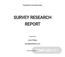 Survey Research Report Template