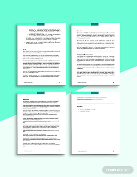 Product Research Report Appendices