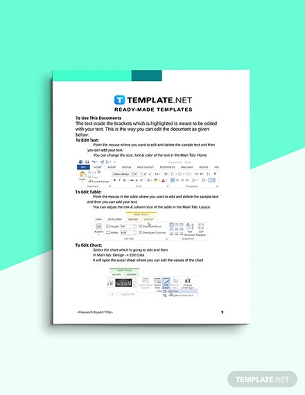 Product Research Report Editable