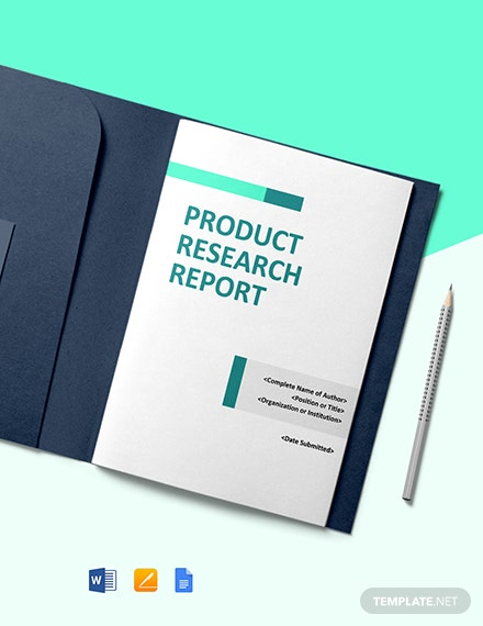 Product Research Report Template