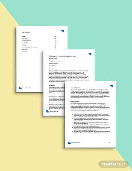 Investment Research Report Template Format