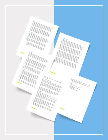 Corporate Research Report Template Sample