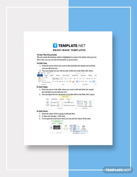 Corporate Research Report Template format