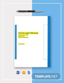 Corporate Research Report Template