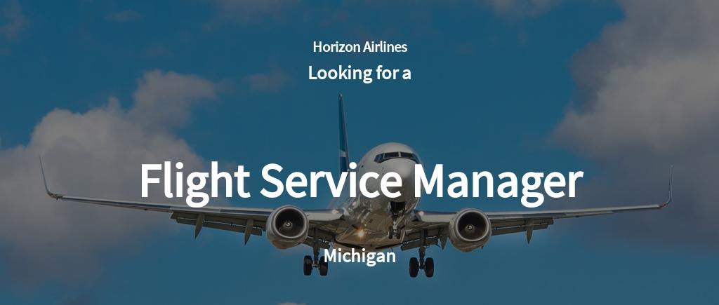 Flight Service Manager Job Ad and Description Template