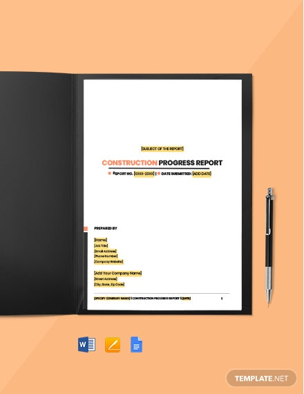 Foreman Site Report template