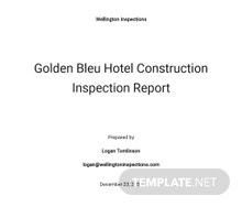 Construction Inspection Report Template