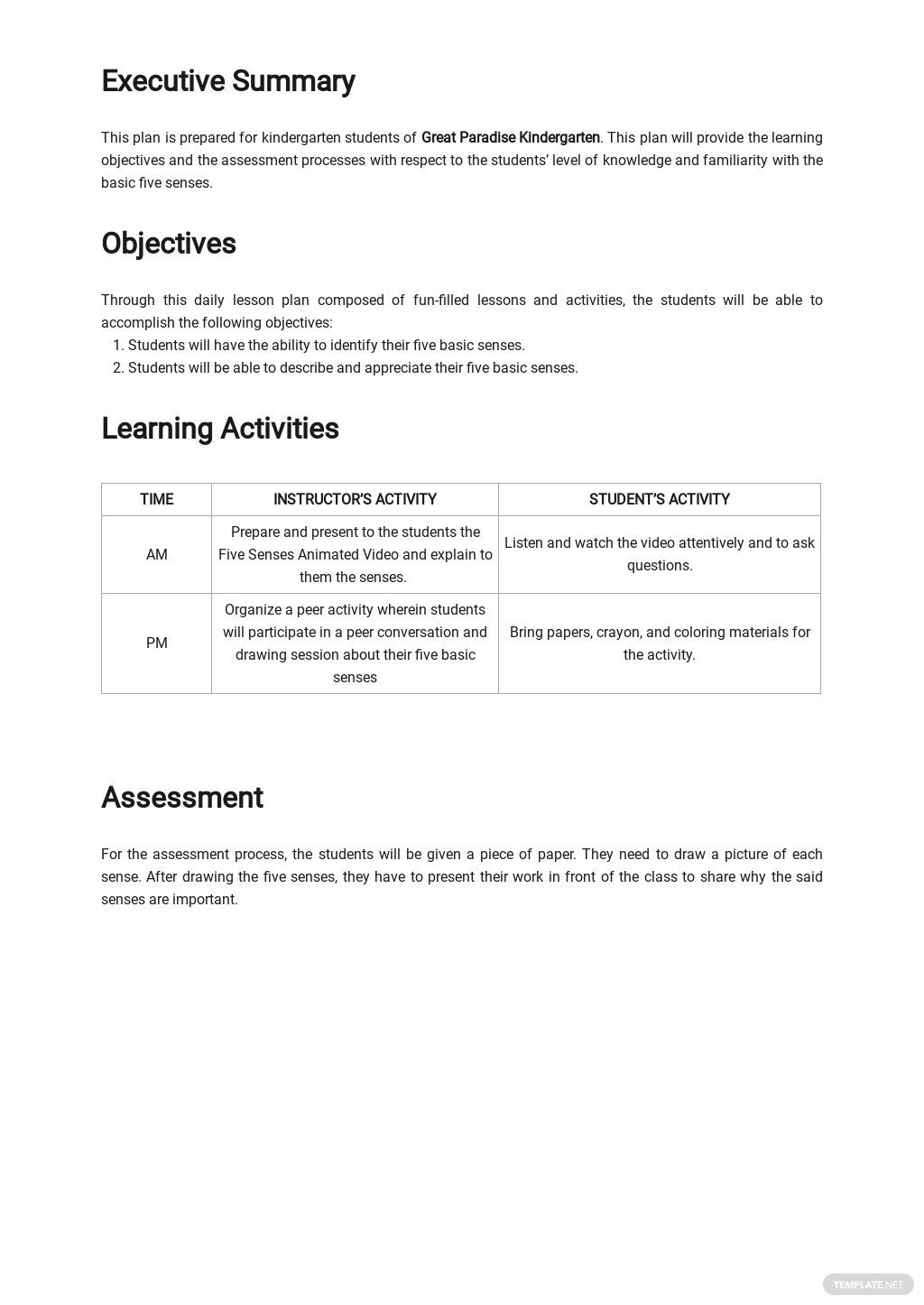 Kindergarten Daily Lesson Plan Template 1.jpe