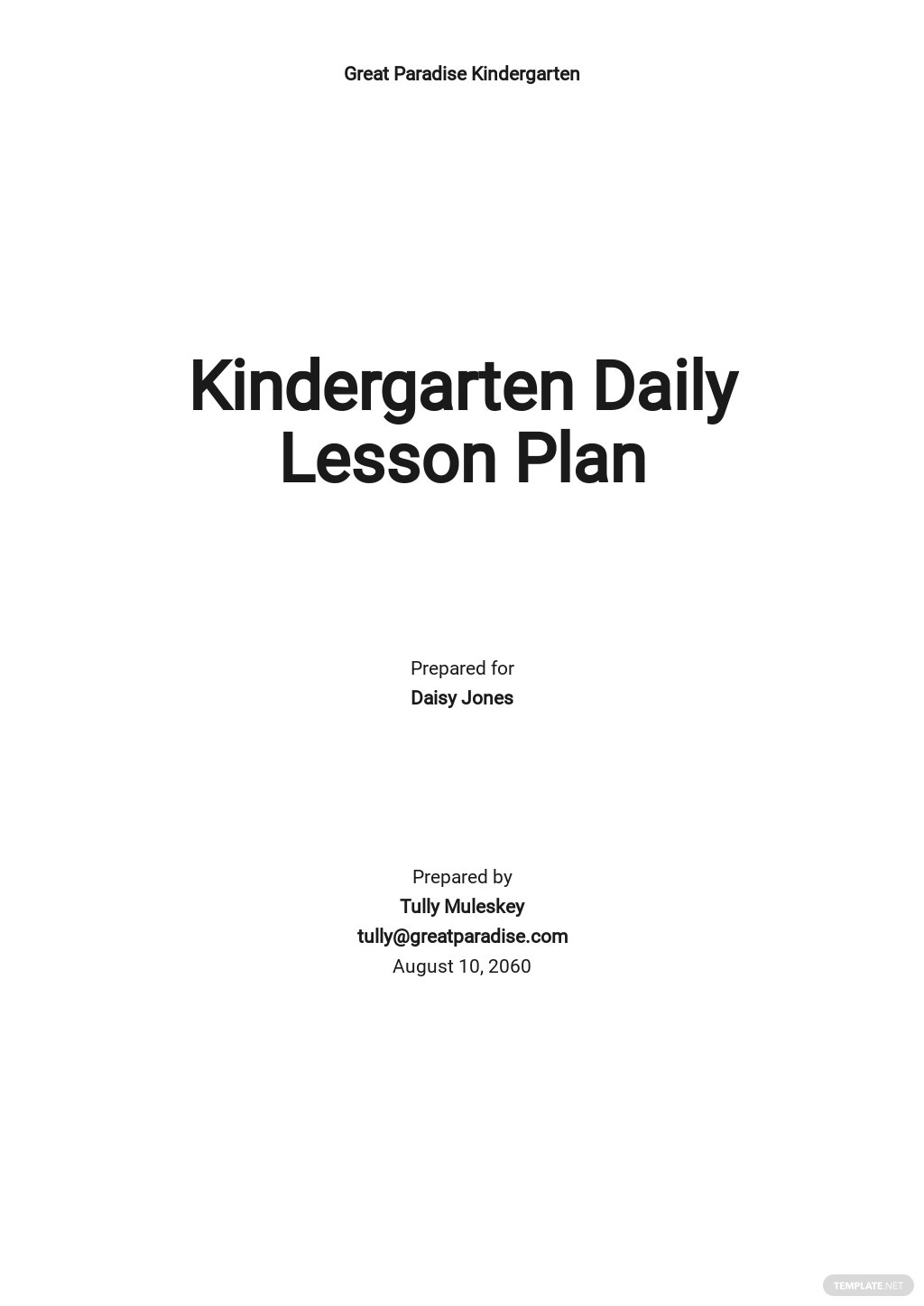 Kindergarten Daily Lesson Plan Template.jpe