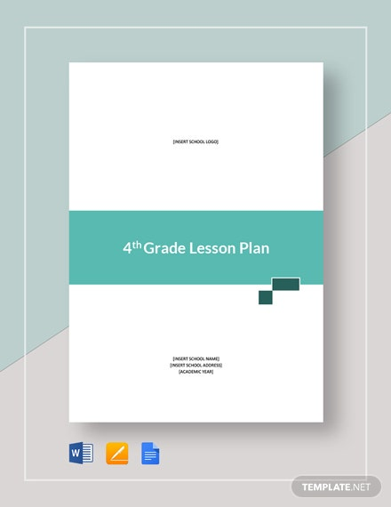 4th Grade Lesson Plan Template