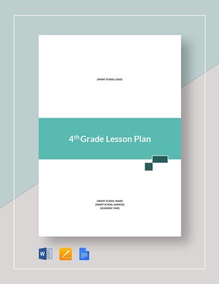 4th Grade Lesson Plan Template