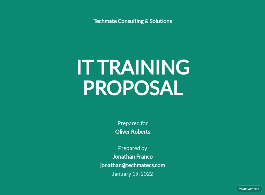 IT Training Proposal Template