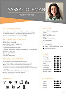 Beginner Acting Resume Template
