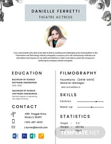 Free Beginner Acting Resume Template