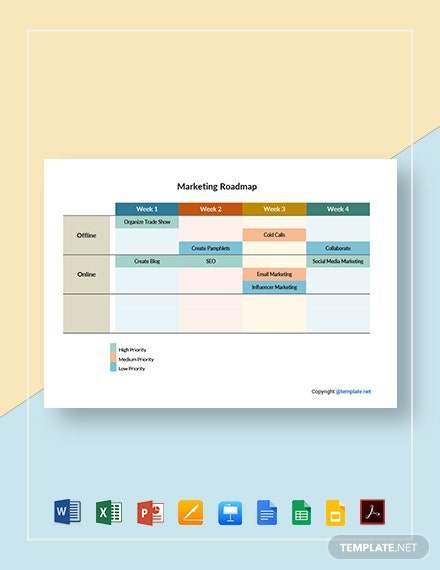 Sample Marketing Roadmap Template
