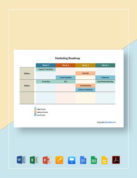 Free Sample Marketing Roadmap Template
