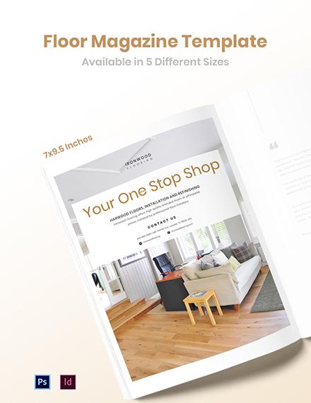 Floor Magazine Ads Template