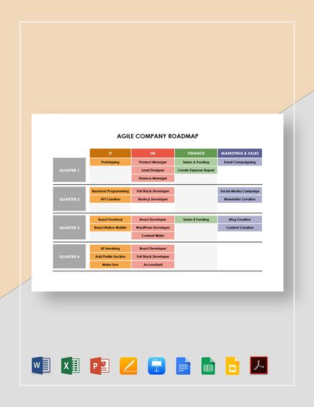 Agile Company Roadmap Template
