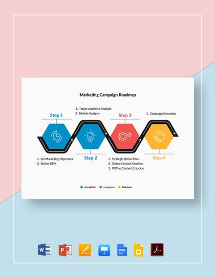 Marketing Campaign Roadmap Template