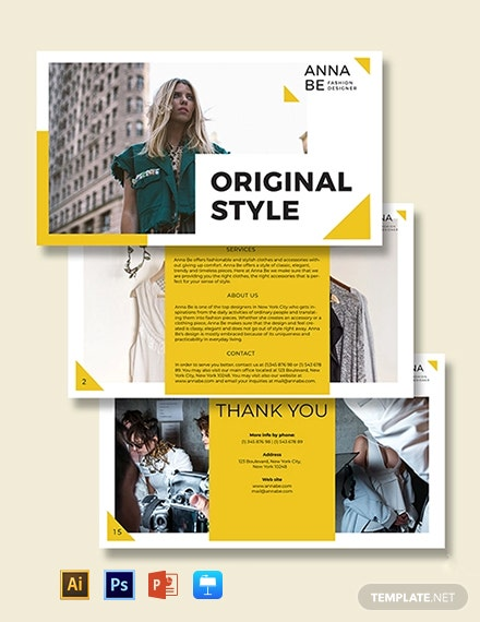 Fashion Designer Presentation Template